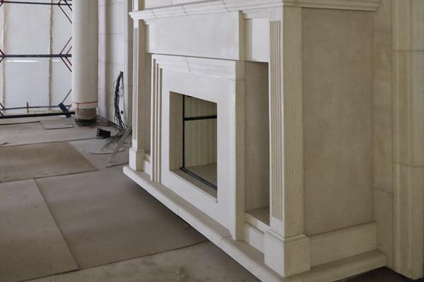 камин из архитектурного бетона