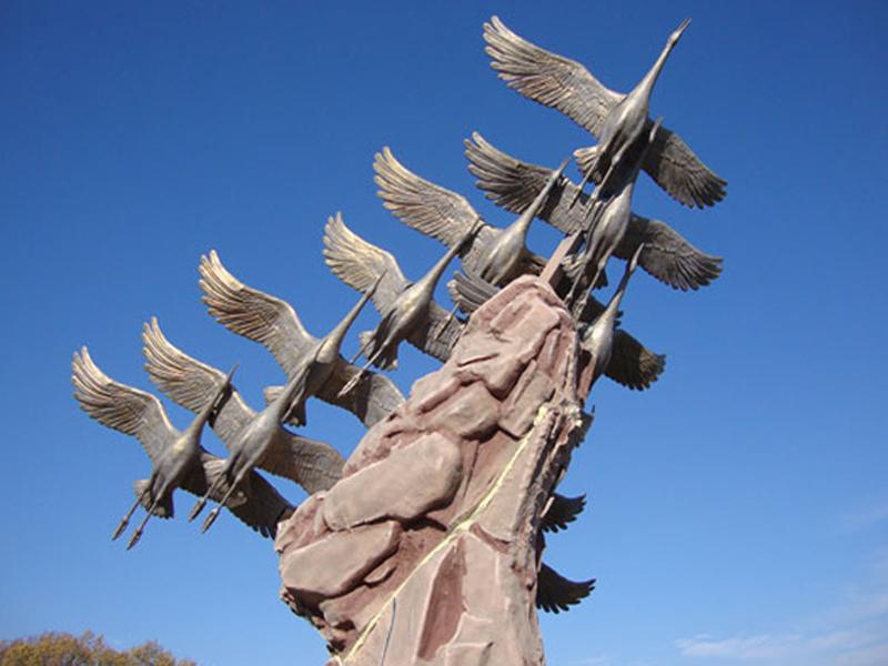 Журавли. Памятник воинам